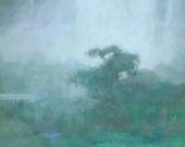 Between Falls, Original Waterfall Painting