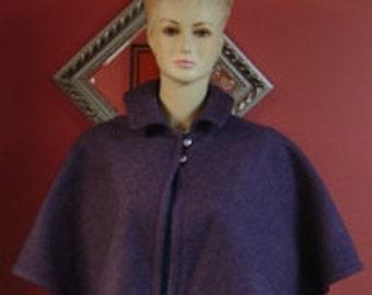Victorian Lavender Capelet,Fleece Bridal Caplet,Cover Up,Bridal Cape,Lavender Wedding Shawl