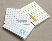 personalized couple stationery set - personalized stationary set - couple stationary - thank you notes - monogram - dots in three shades