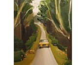 At Long Last Max Returns To The Manor In A Yellow Taxi After Studying Abroad.- Limited Edition Print