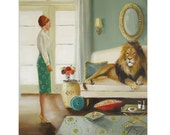 The Houseguest- Art Print From Original Oil Painting