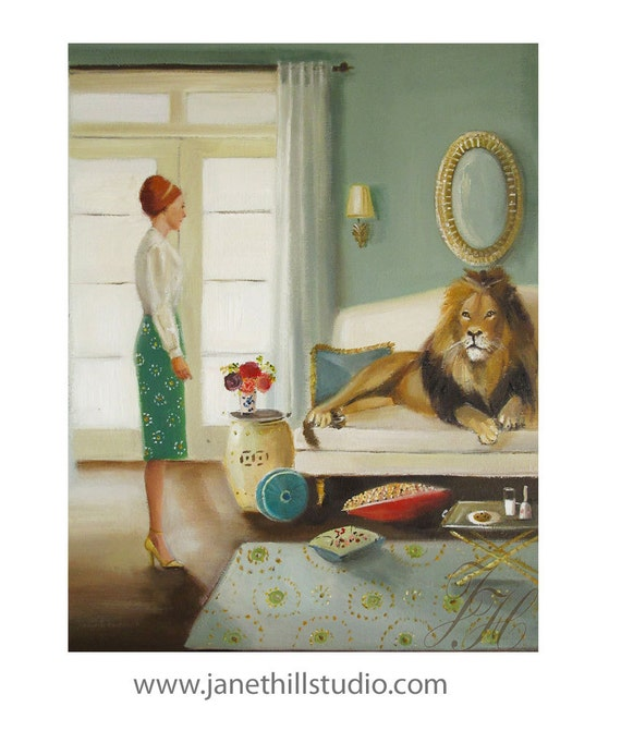 The Houseguest. Art Print From Original Oil Painting