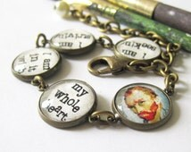 Van Gogh Quote Antique Brass Bracelet