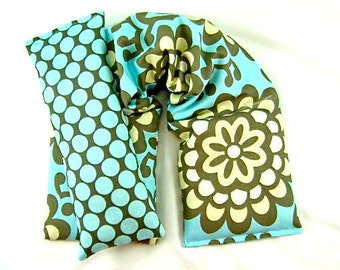 Remedy Packs: Neck Wrap Eye Pillow Set Hot/Cold Therapy Organic,Microwaveable Heat Pad