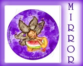 Luscious H2oMelon Pocket Mirror - If You Listen Closely You Can Hear Yourself PURPLE