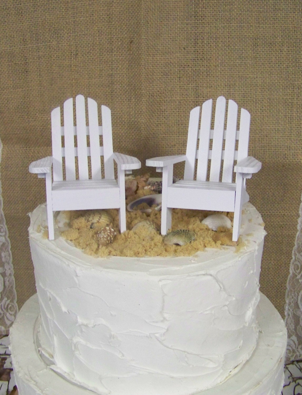 Adirondack Cake Topper DIY Wedding Beach Theme Beach