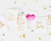 Love is Sweet - Gold Foil Letterpress Greeting Card