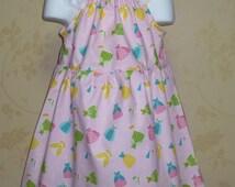 Girl Pink Dress, Little Girl Dress, Girls Dresses, Fall Girl Dress, Fairy Tale Pink Girls Dress , Happy Ever After Dress Riley Blake Fabric