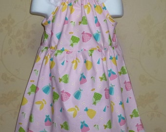 Girl Pink Dress, Little Girl Dress, Girls Dresses, Fall Girl Dress, Fairy Tale Pink Girls Dress , Happy Ever After Dress Riley Blake Fabric