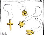 Religious Jewelry cartoon PRINT