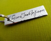 Personalized Keychain - Custom key chain - Hand stamped Hammered Accessory