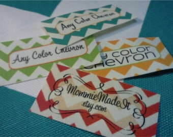 500 Fabric Labels - Sew-On Fabric Labels - Free Customization Using Any Premade Design Shown OR Your Print-Ready Design or Logo