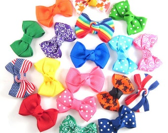 8 Baby Hair bows - Infant Hair Bows - Toddler Hair Bows - Snap or Alligator clips - Choose from over 100 colors and prints