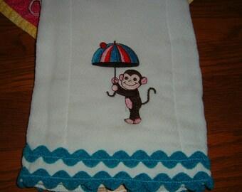 Burp Cloth--Cute Little Monkey