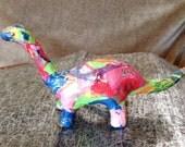 Brontosaurus Decoupage Paper Mache OOAK