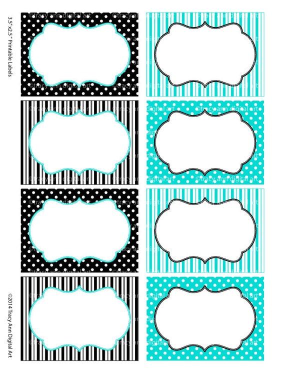 Articles similaires tiffany bleu et noir imprimer vos - Etiquette prenom a imprimer ...