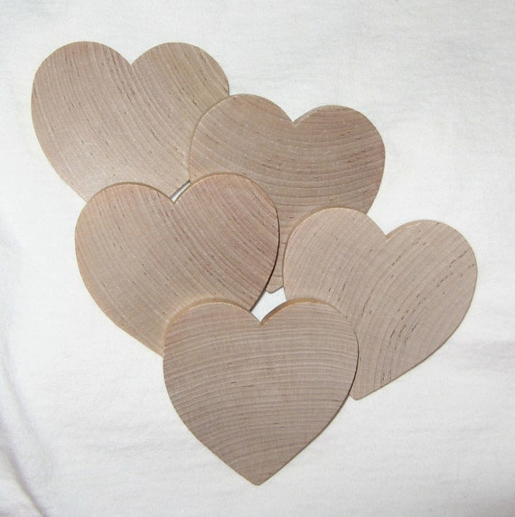 Wooden hearts 10 wood hearts for crafts stamping jewelry for Wooden hearts for crafts