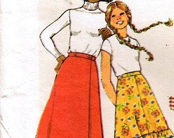 Sewing Pattern Vintage 80s Skirts for Teens Aged 13 to 14 Simplicity 7870 How to Sew
