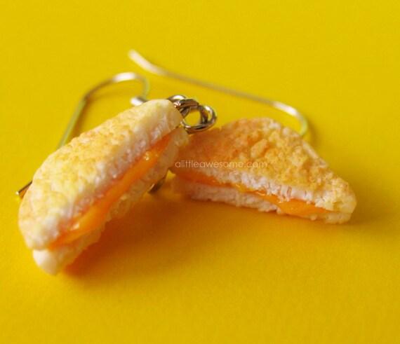 Grilled Cheese Earrings NICKEL FREE