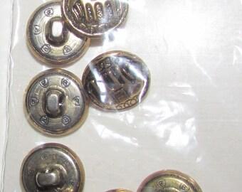 elephant set buttons set of 8