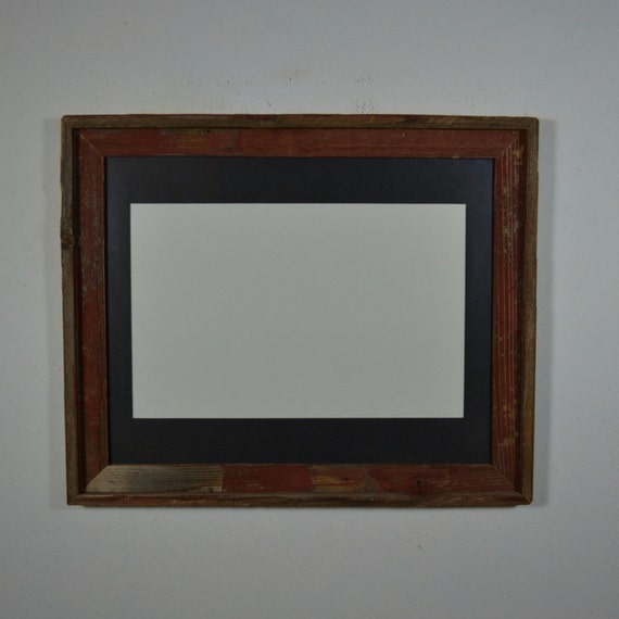 Shabby Chic 16x20 Wood Photo Frame Black 11x17 Mat By