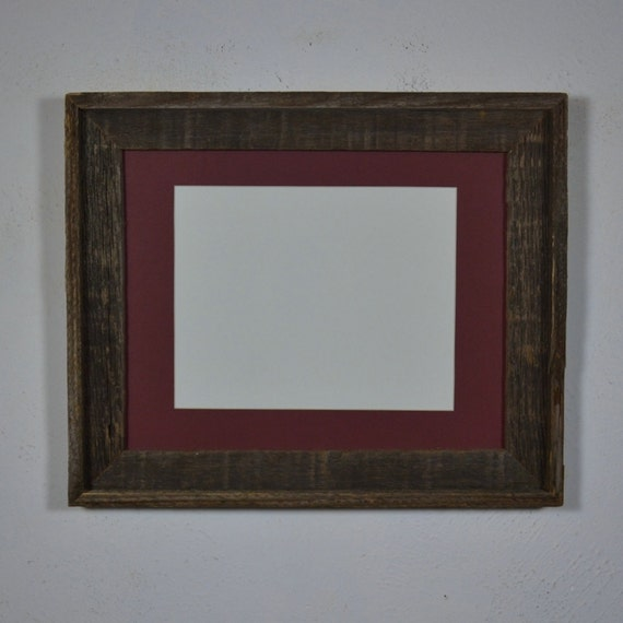 11x14 Dark Wood Frame With Mat For 8x10 Or 8x12 Or 9x12