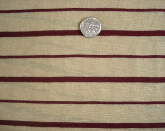 STRIPES golden yellow and brown cotton blend knit stripe 1 YD