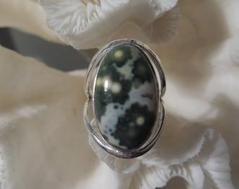 Beautiful Ocean Jasper Ring Size 5.5