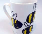 Bumble Bee Mug - Hand-painted /  Children's Cup
