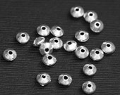 50 pcs of antique Silver smooth saucer beads 5x2.5mm