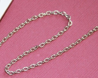 15 ft of Antiqued silver texture cable chain 2X3mm - unsoldered