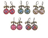 Scottish Tartan Jewelry - Ancient Romance Series - CHOICE OF ONE Sweet Petite Bow Earrings