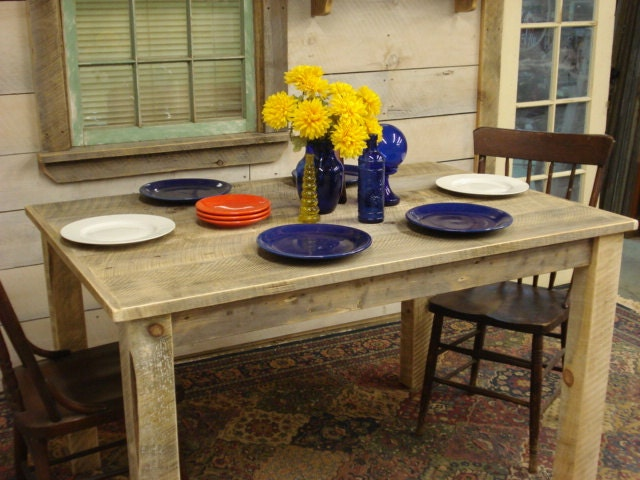 Rustic dining room table 54 x36 x 30h for Dining room tables 36 x 54