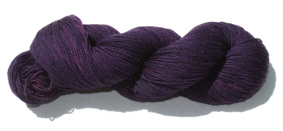 Sherlock's Purple Shirt of Sex Hand Dyed Sock Yarn