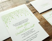 letterpress celebration wedding invitation sample
