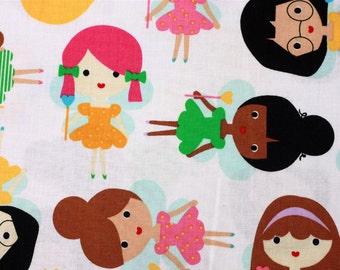 1 yard Girl Friends Fairy by Ann Kelle Fabric by Robert Kaufman
