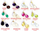 Birthstone Charms- silver and gold wire wrapped gemstones. Wire Wrapped Crystals. Wrapped Stones. Add On Charms. Gemstones by jenny present.