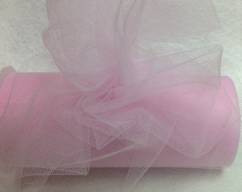 Pink Tulle  20 Yards Beautiful High Qulaity Tulle Ribbon -  Full Spool