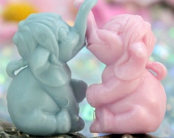 Elephant Set - Boy and Girl - Set of 6 - 203-3-143