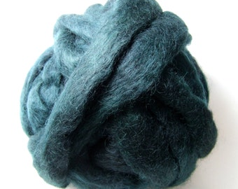 Gotland Dyed Wool Roving 3 Ounces - Teal