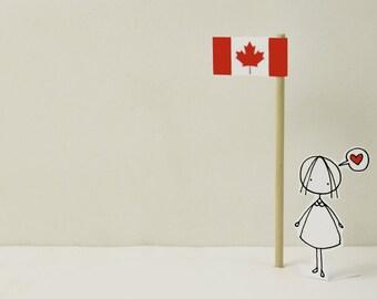 Oh CANADA - Photo print - Paper diorama - letter size