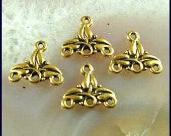 Chandelier earring findings, Brass earring component, brass dangle, 3 strand endings
