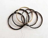 Steel & 14k Gold Stacking Rings | stacking ring set