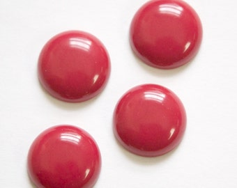 Vintage Wine Red Acrylic Cabochons 18mm cab834A