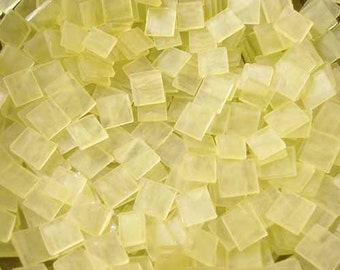 Mini Frosted Yellow Tumbled Stained Glass Mosaic Tiles