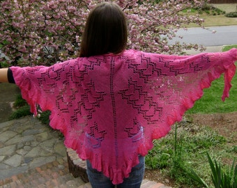 PDF - HOW Do I Love Thee... Lace Shawl Pattern