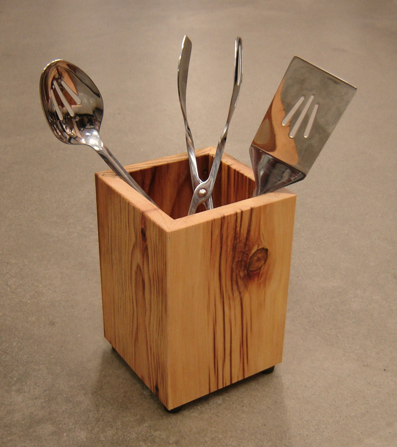 Utensil holder modern kitchen organizer rustic by for Kitchen utensil holder