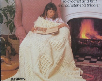 Patons Afghans Crochet and Knit Pattern Book