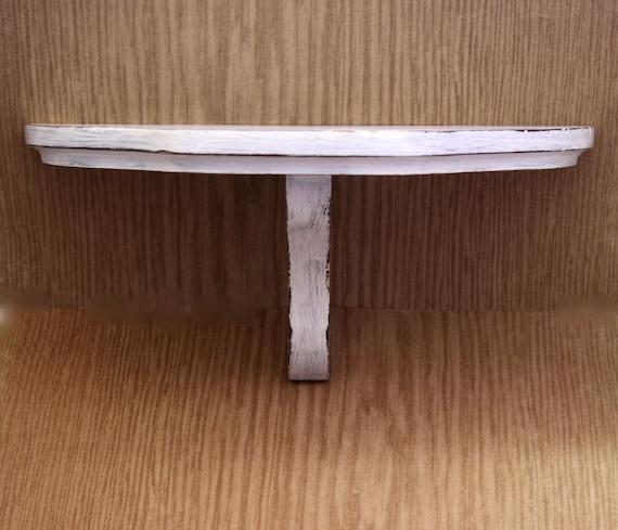 Rustic Small Shelf White Distressed Wood Shelf