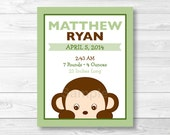 Monkey Nursery Wall Art B...